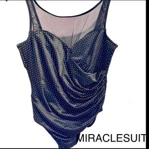MIRACLESUIT Black Polka Dot One Piece Swimsuit 16